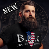 Beard Care Club Grooming Co T-Shirt With Flag Logo