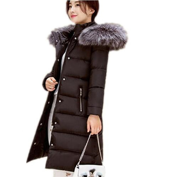 Winter Fur Collar Coat - - women - HQBP