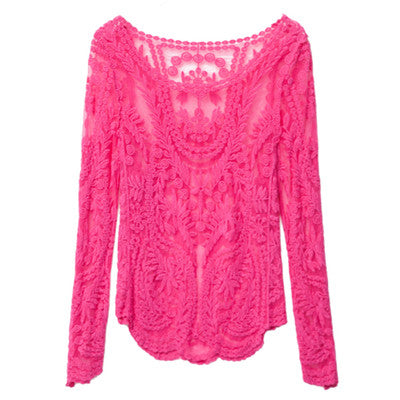Sexy Lace Blouse - As the picture 1 / M - women - HQBP