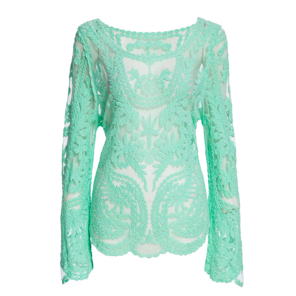 Sexy Lace Blouse - As the picture 2 / M - women - HQBP