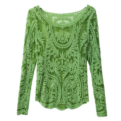 Sexy Lace Blouse - As the picture 3 / M - women - HQBP