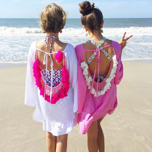Backless Tassel Cover-Up