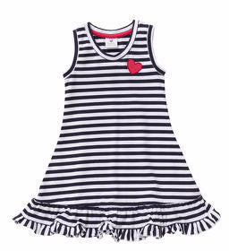 Hootkid Feeling Fine Dress - Navy/White Stripe