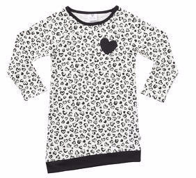 Hootkid Risk Taker Dress (Warm White Leopard/Black)