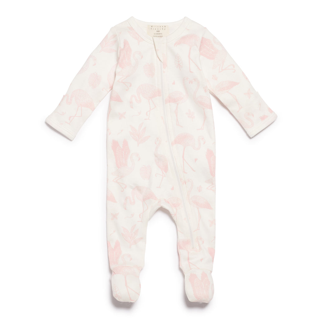 4f8daaaadf5d Wilson   Frenchy Flamingo Zipsuit With Feet – Kids Threads and Trends