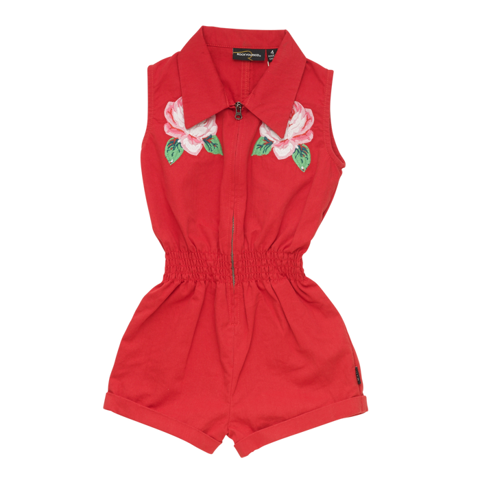 Rock Your Kid Embroidered Rose - Jumpsuit