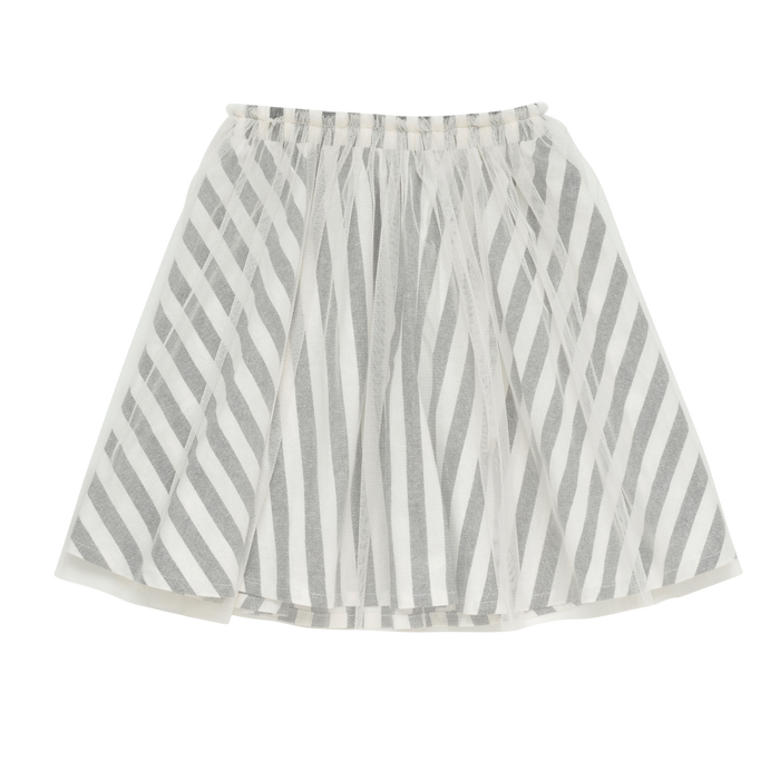 Rock Your Kid Stripe Overlay Skirt