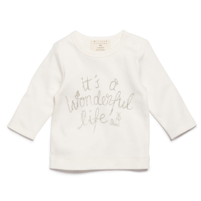 Wilson & Frenchy It's A Wonderful Life Long Sleeve Top