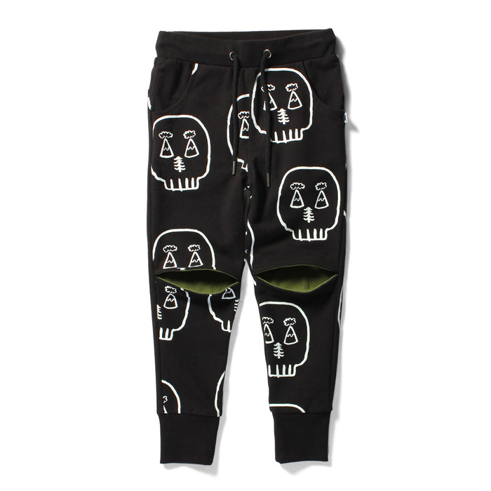 Minti Outdoor Skull - Hidden Knee Trackies (Black Army)