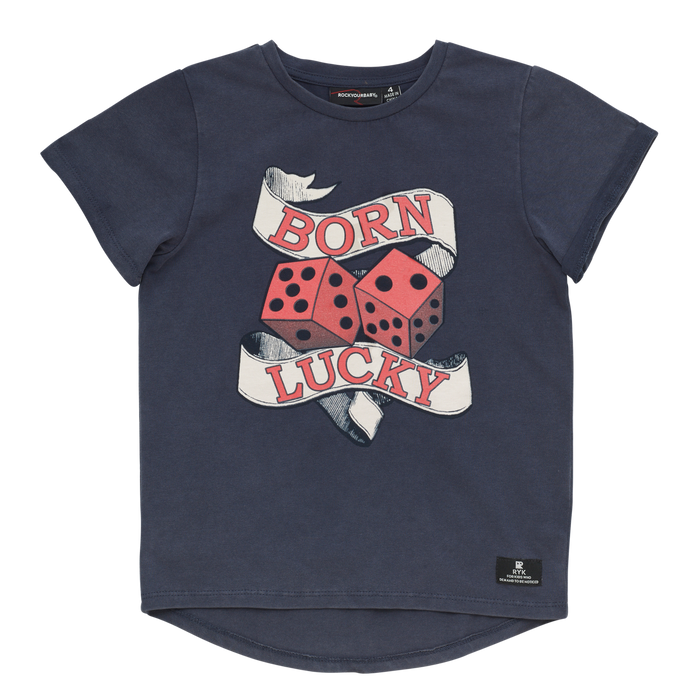 Rock Your Kid Born Lucky - SS T-Shirt