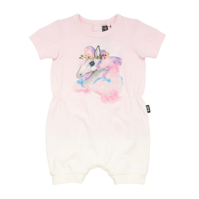 Rock Your Baby Rainbow Brumby - SS Playsuit