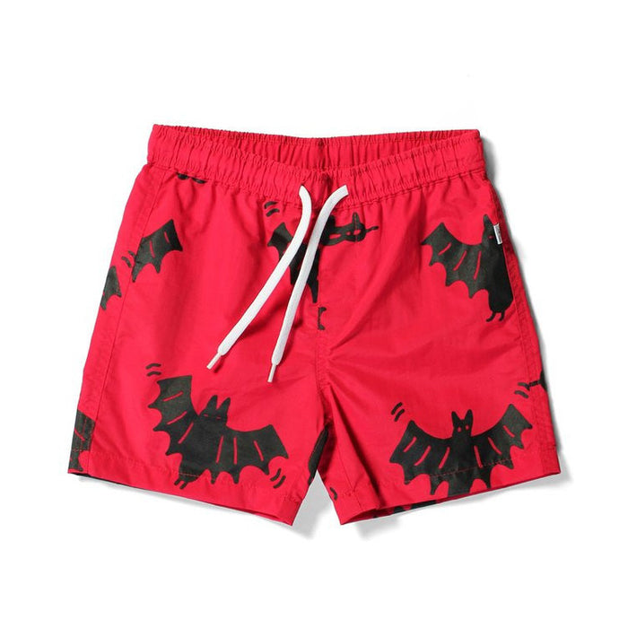 Littlehorn Bats & Masks Boardies (Red)