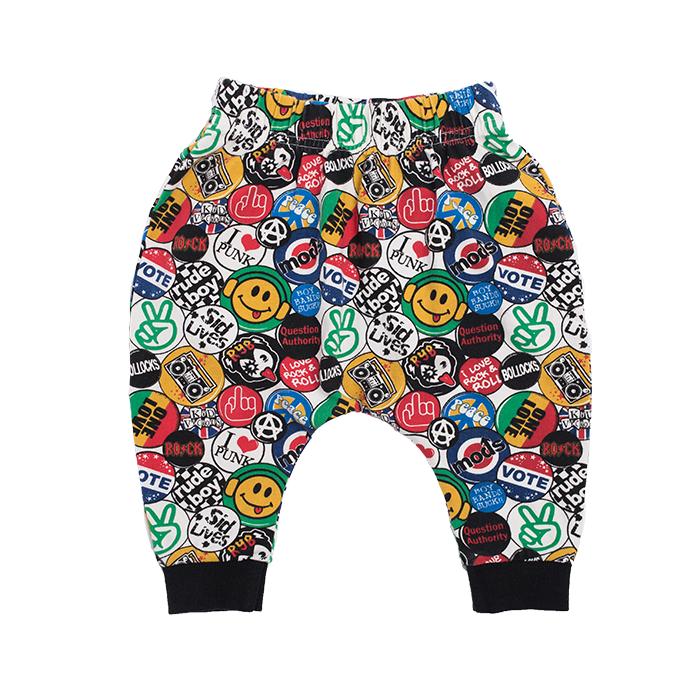 Rock Your Baby Retro Badges Pants