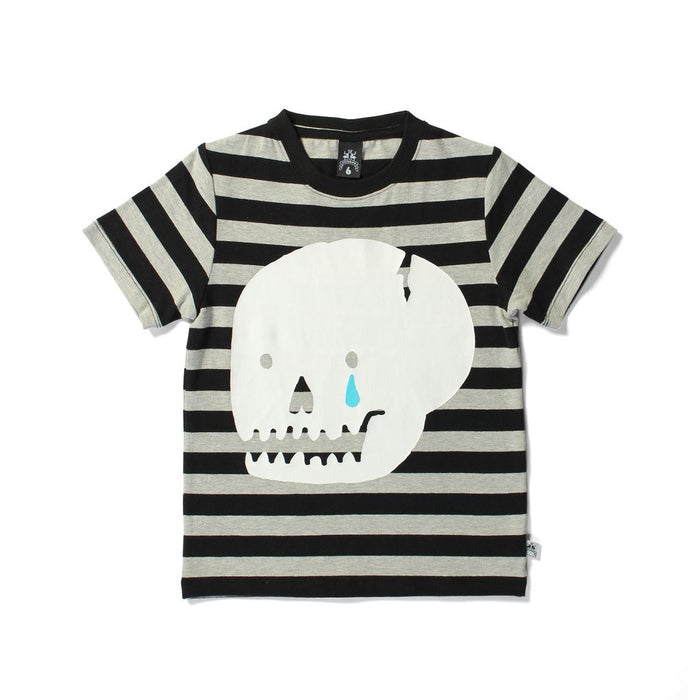 Littlehorn Cracked Skull Tee (Black Stripe)