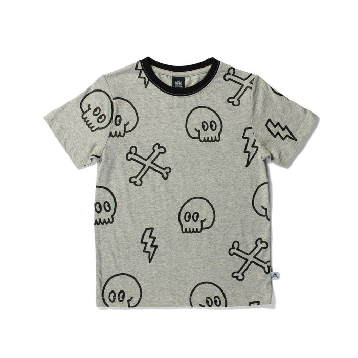 Littlehorn Cross Bones Tee (Grey Marle)