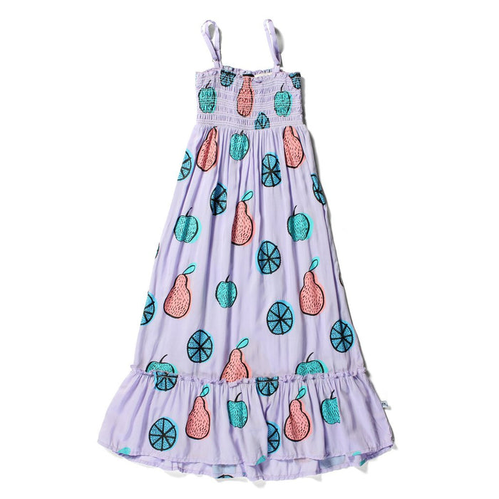 Littlehorn Fruits Maxi Dress (Lilac)