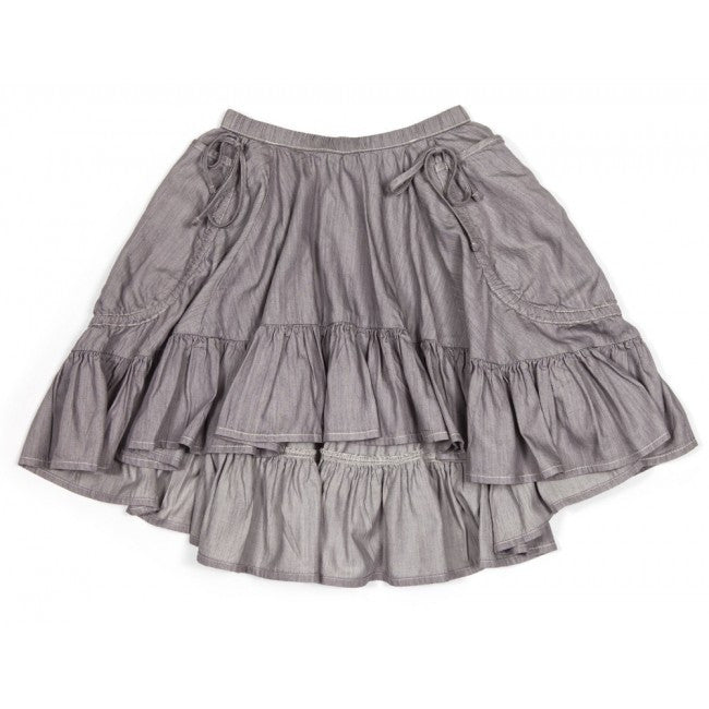 Frilled Drawstring Bustle Skirt