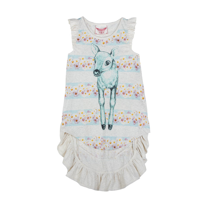 Paper Wings Racer Back Singlet Dress - Daisy Deer
