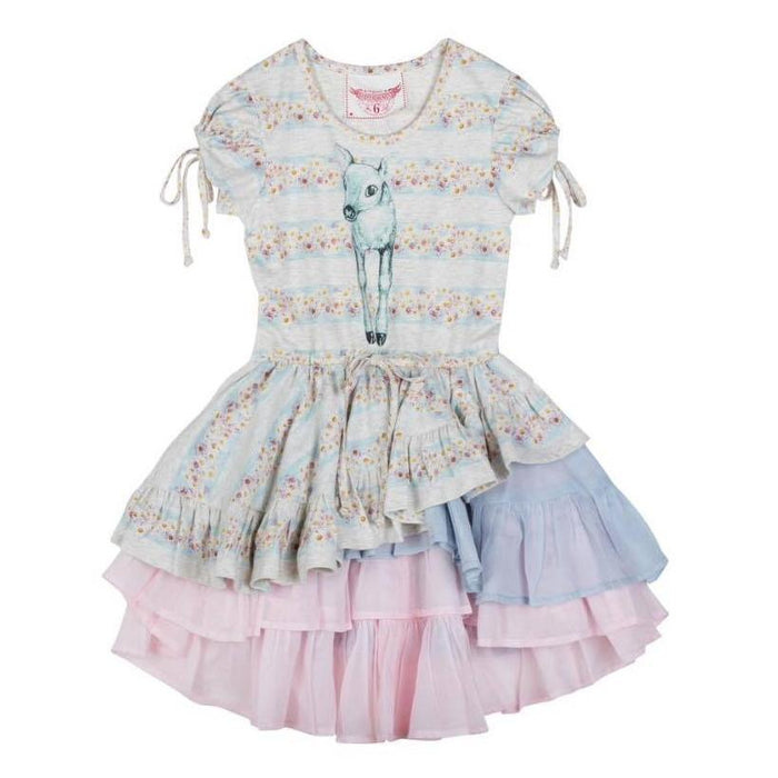 Paper Wings Dress w/ Keyhole Sleeves - Daisy Deer