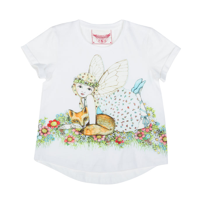 Paper Wings Loose Fit T-shirt - Fox Fairy