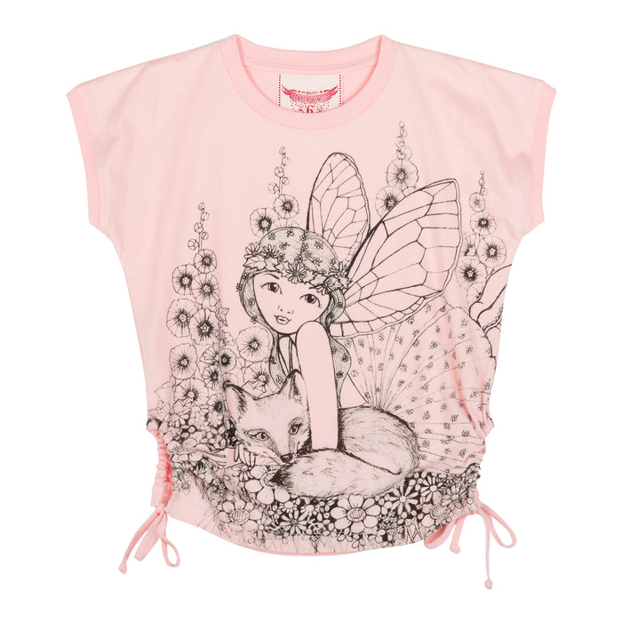 Paper Wings Keyhole T-shirt - Fairy Sketch