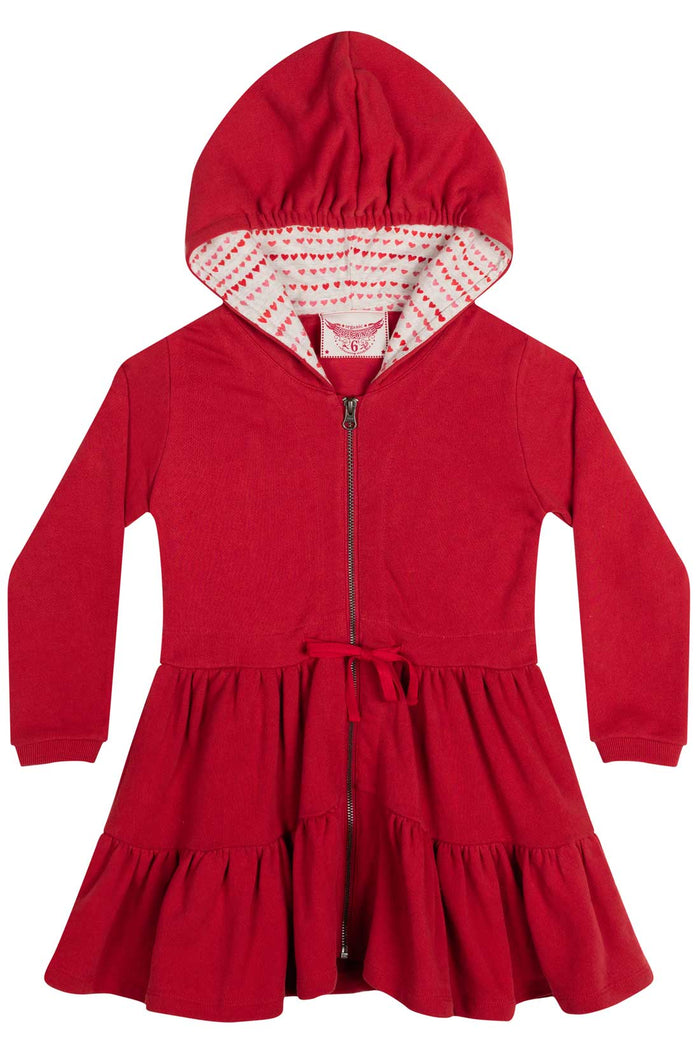 Paper Wings Fleece Hoodie Dress