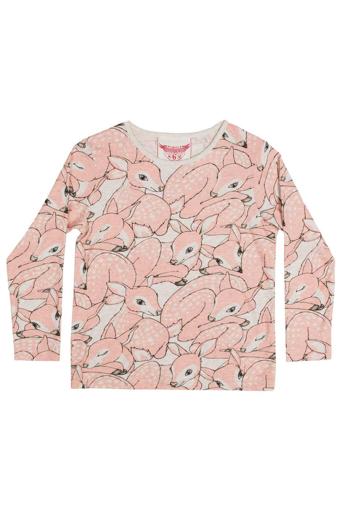 Paper Wings Classic T shirt - Pink Fawns