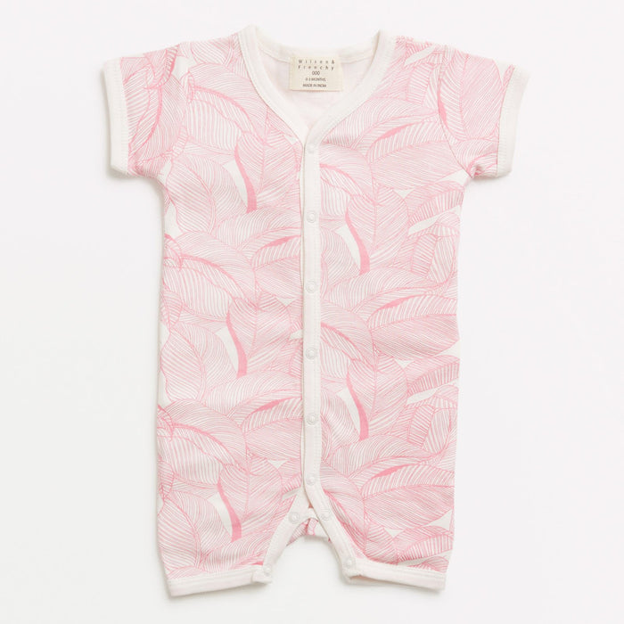 Wilson & Frenchy Pink into the jungle short growsuit