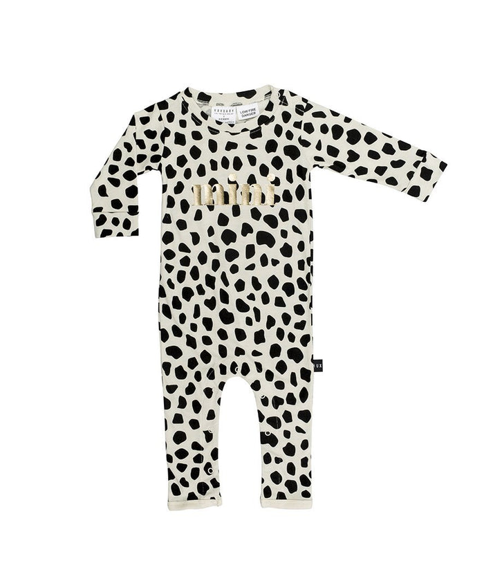 Huxbaby Leopard Romper (Sand)