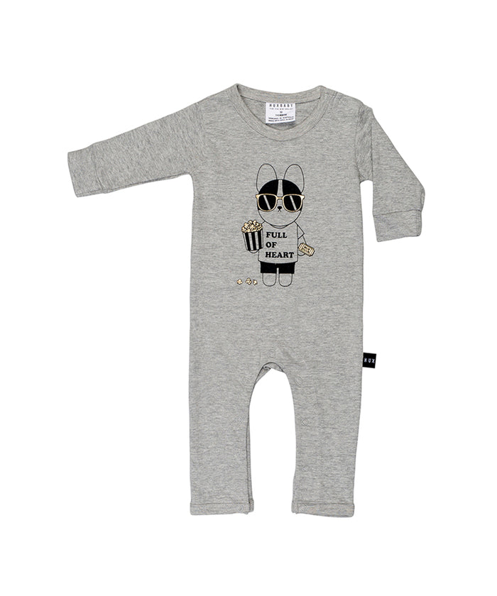 Huxbaby French Movie Romper (Grey Marle)