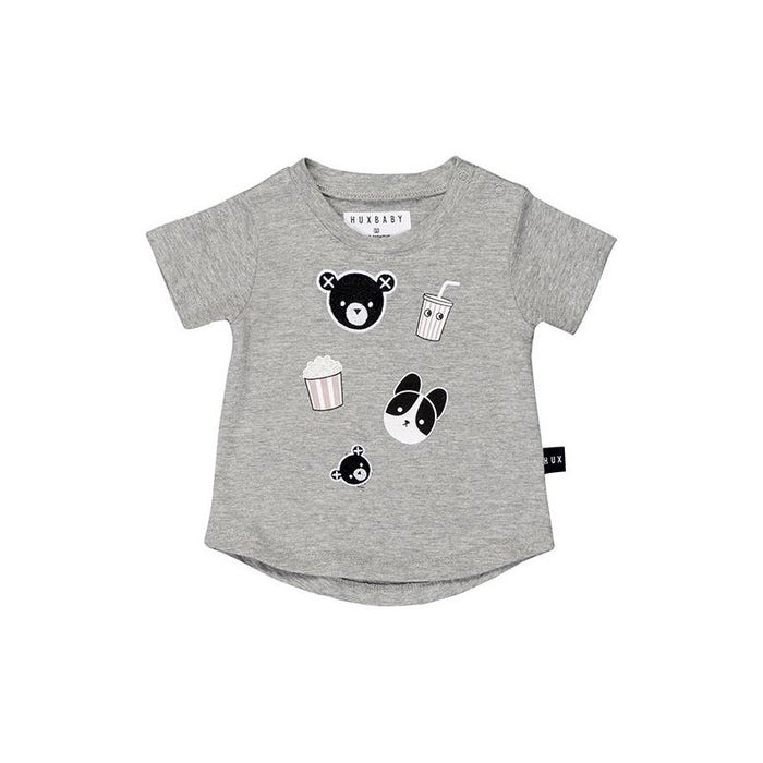 Huxbaby Movie Patch T-Shirt (Grey Marle)