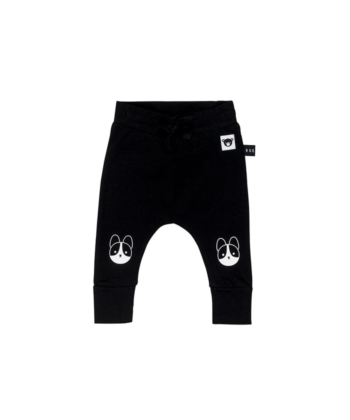 Huxbaby Frenchie Drop Crotch Pant (Black)