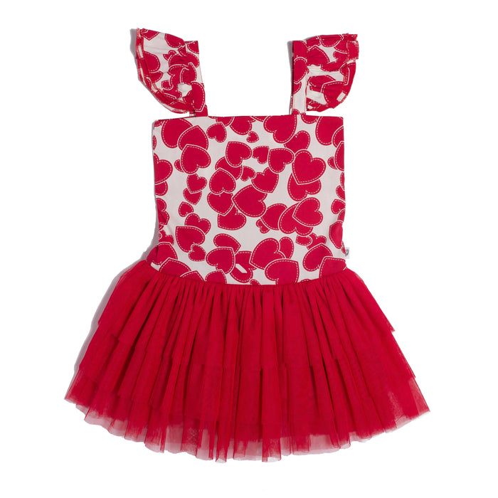 Hootkid Shake It Off Dress (Red Heart)