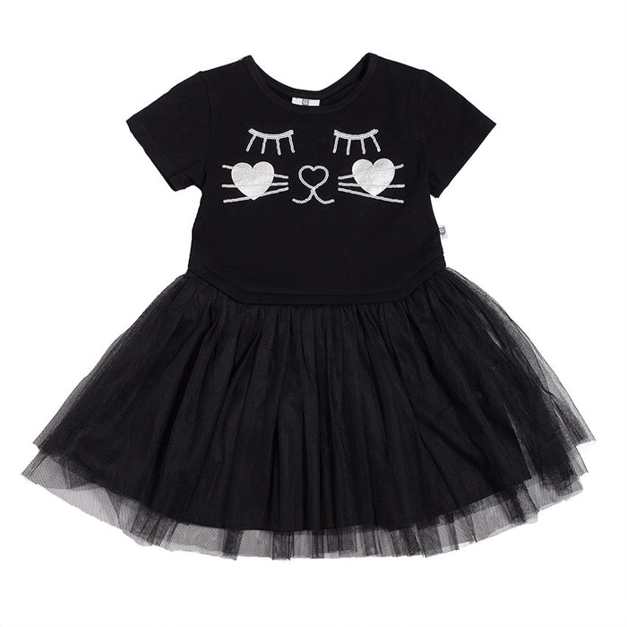 Hootkid Kitty Tutu (Black)