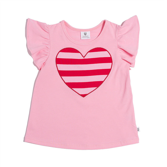 Hootkid Happy Heart Top (Candy Pink)