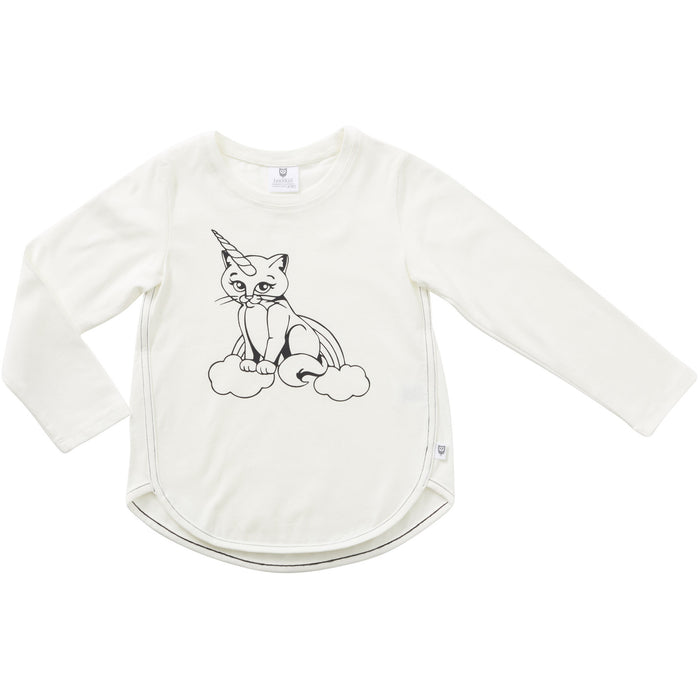 Hootkid Uni Cat Tee (Warm White)