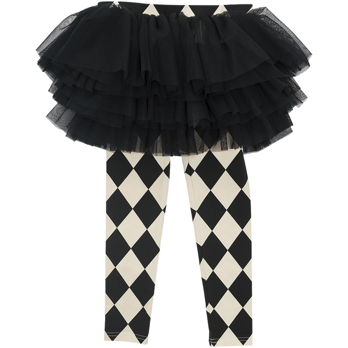 Harlequin Circus Tights (B/W)
