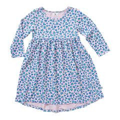 Hootkid Ditsy Heart Hi Low Dress (Candy Pink)