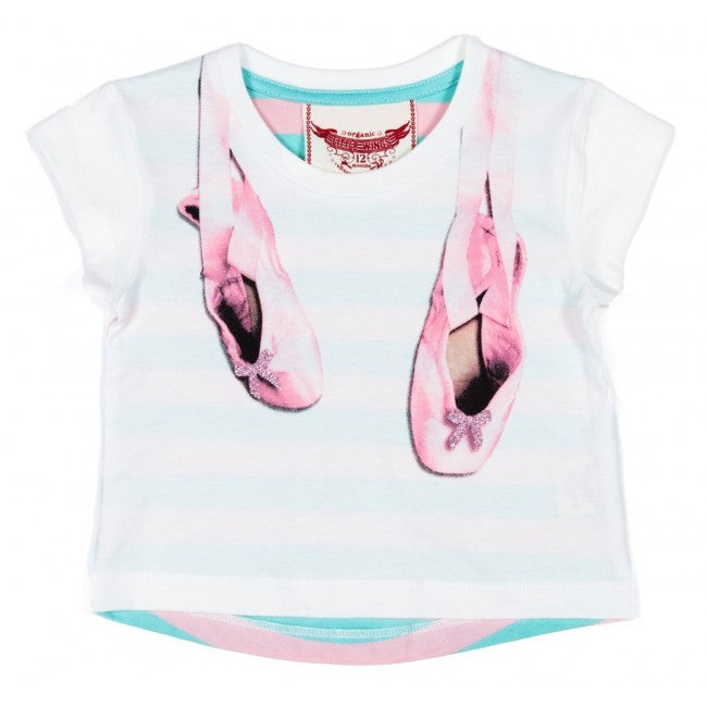 Little Wings Drop Shoulder Tee - Ballet Slippers