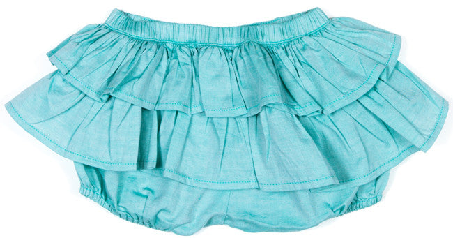 Little Wings Frilled Bloomers - Mint