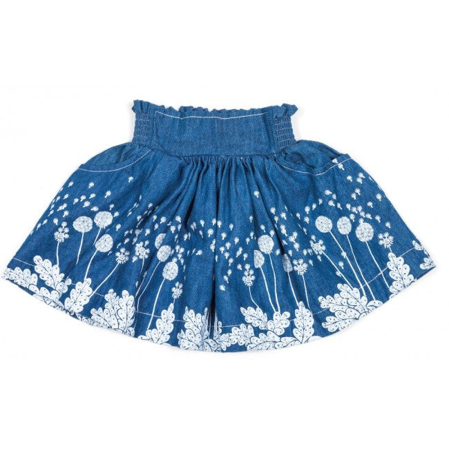 Little Wings Shirred Skirt - Dandelions