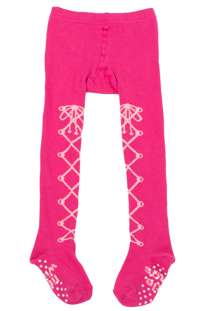 Little Wings Tights - Laced Up (Pink)
