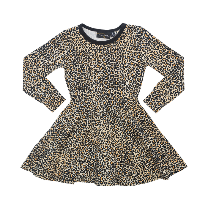 RYK Leopard LS Waisted Dress