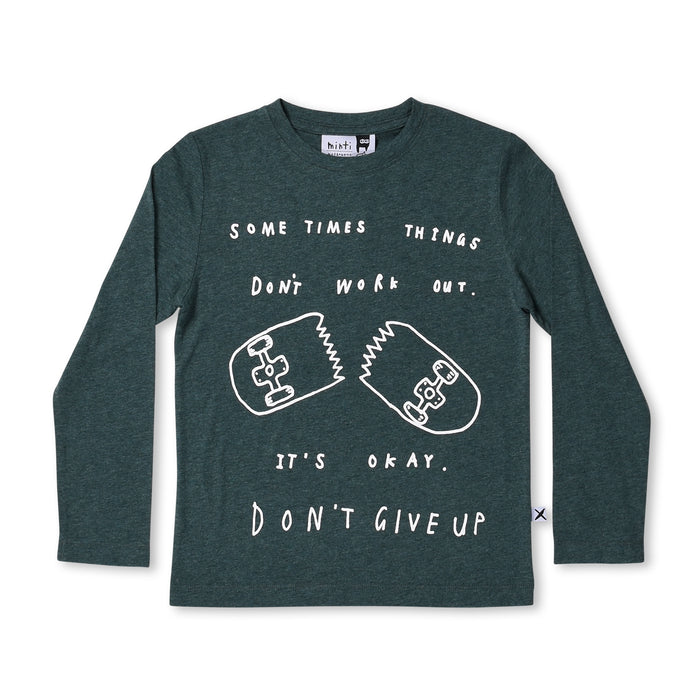 Minti Don't Give Up Tee (Forest Marle)