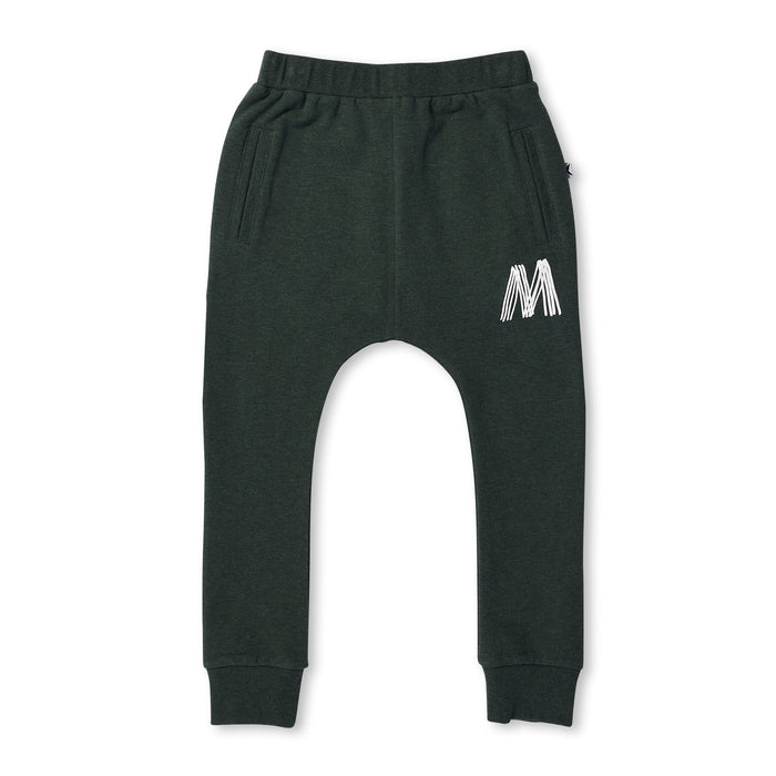 Minti Multiple M Bronx Trackies (Forest Marle)