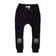 Minti Party Crown Furry Trackies (Black)