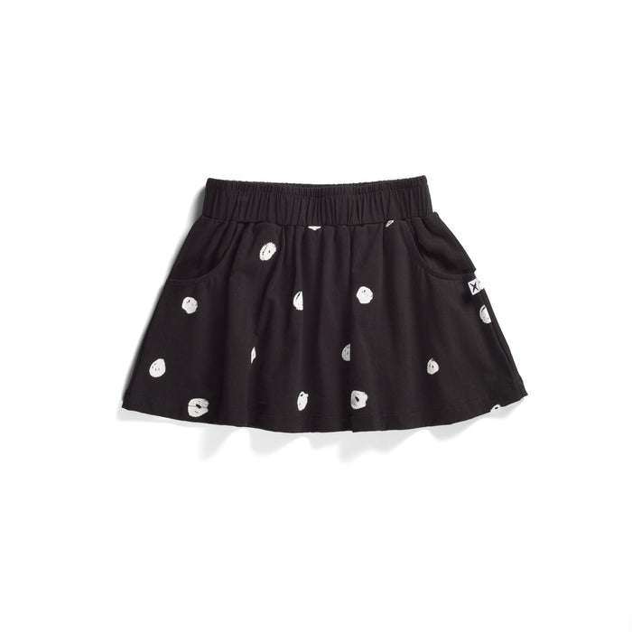 Minti Happy Dots Skirt (Black)
