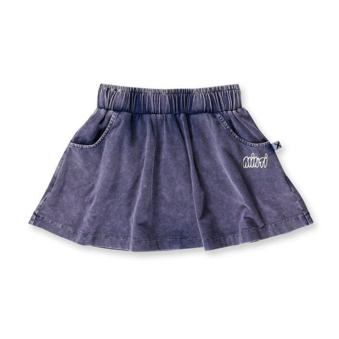 Minti Blasted Skirt (Midnight Wash)