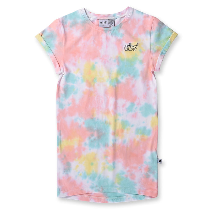 Minti Frosty Rolled Up Tee Dress (Multi)