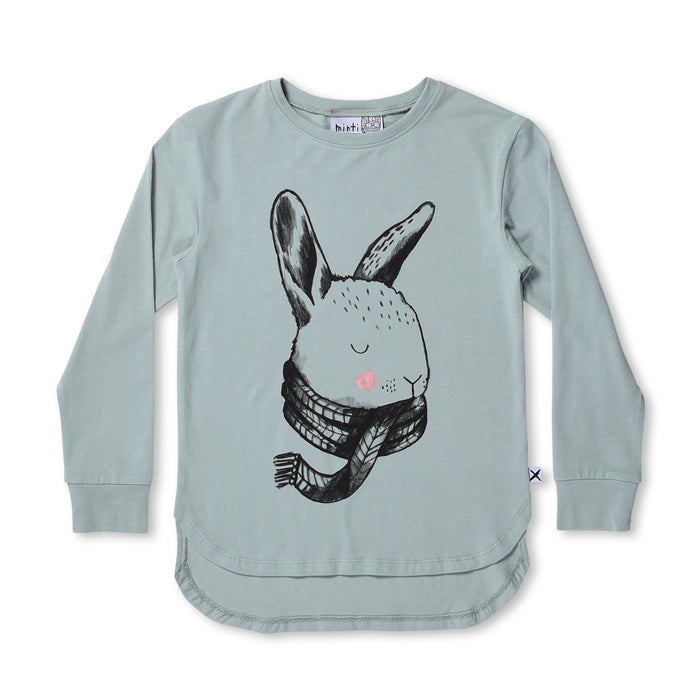 Minti Cosy Bunny Tee (Muted Green)